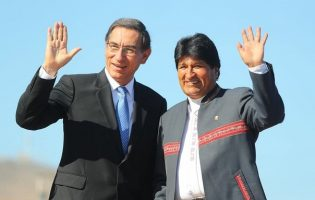 Así Martín Vizcarra le da la bienvenida a Evo Morales para el Quinto Gabinete Binacional Perú-Bolivia
